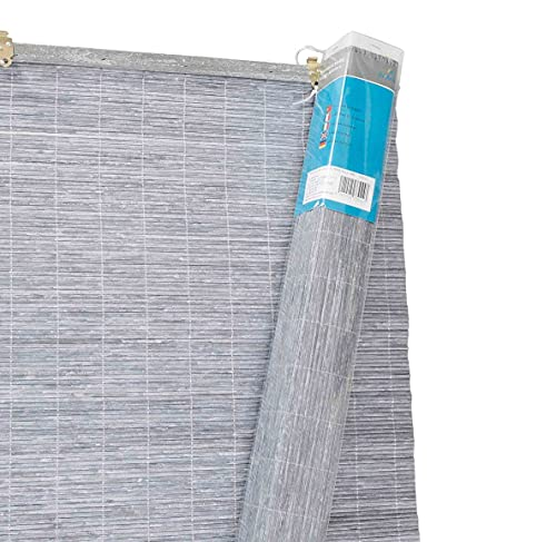 thesecrethome.es PERSIANA BAMBÚ Enrollable Ventana 140x60cm Gris