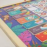 FSSQYLLX Tabla de recompensas Calendario de recompensas magnéticas Horario para niños Juguetes educativos para niños