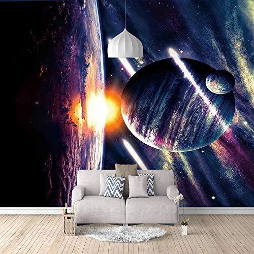 xczxc Foto tapete Sci-Fi Planet 3Ddrucken Vlies Wandbild tapete Benutzt für Schlafzimmer Wohnzimmer TV-Hintergrund Kinderzimmer Dekoration 350 X 256 cm