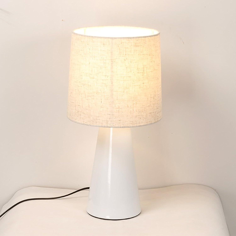 Moderne europäische stil lampe Eisen material tuch abdeckung lampe Hotelzimmer Hotelzimmer Hotelzimmer wohnzimmer nachttischlampe Drei farben auswahl (Farbe   Weiß) B07BC6Y86Q | Moderne Muster  47e7e8