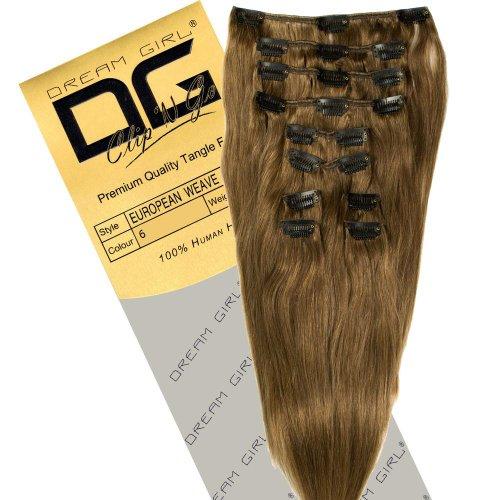 Dream Girl Extensions de cheveux à clipser Couleur 6 35,6 cm
