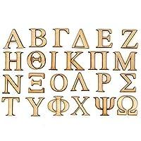 公式 ギリシャ風木製文字 1インチ シングルレイヤー 2パック (PSI)