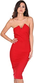 AX Paris Women's Notch Front Bodycon Dress
