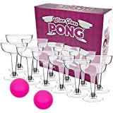 Fairly Odd Novelties WINE GLASS PONG Fun Novelty Party Drinking Game, 5 oz, Pink