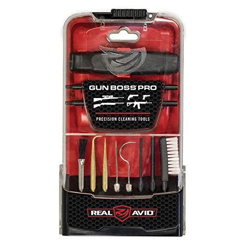 Real Avid Gun Boss Pro Precision Cleaning Tools: Professional Set of Universal, supplemental, Gun Detailing Picks and Brushes in an Easy-Access Standing case