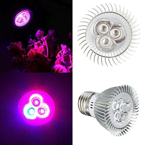 MASUNN 6W E27 Rouge + Bleu LED Plante Croître Lampe Lumière Fleur Hydroponique Globe Ampoule 85-265V