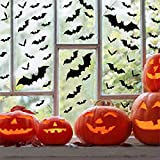 Tuopuda Halloween Pegatinas para Pared 3d Murciélagos Halloween Decoración Pared Pegatinas Props 60 pcs