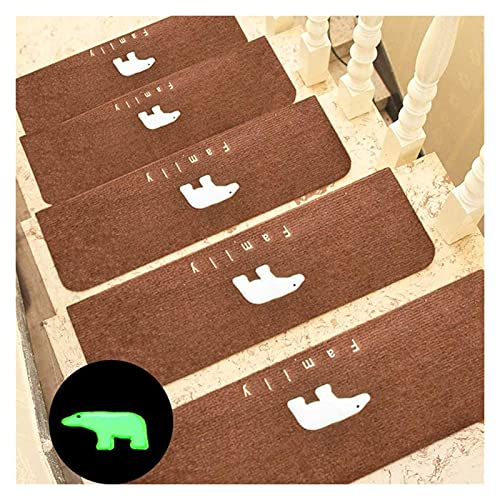 5 Paquetes de la escalera de la escalera Aparteza antideslizante Oso luminoso Alfombra interior Escalera de la escalera de la escalera de la escalera de la escalera Mats Mats Backing para niños mayore