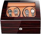 WBJLG Caja enrolladora de Reloj Caja enrolladora automática de Relojes Caja enrolladora automática de Relojes Caja enrolladora de Reloj Rectángulo con luz Abra la Tapa y detenga el Movimiento Sile