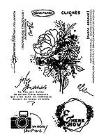 DIYスクラップブッキングフォトアルバム用フレンチグランジタスティック透明クリアシリコンスタンプシール装飾クリアスタンプA1834