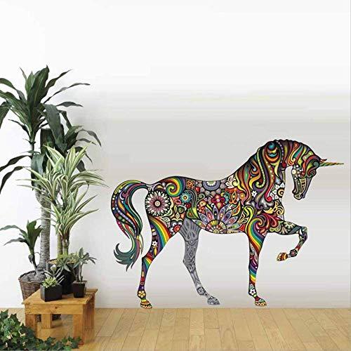 Mandala Kleurrijke Paard Muursticker Graffiti Woonkamer Sofa Home Achtergrond Muursticker 25,5 X 35cm