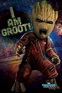 Guardians of The Galaxy Vol. 2 - Movie Poster/Print (I AM Groot!) (Size: 24 inches x 36 inches)