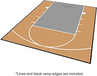 MODUTILE Outdoor Basketball Court Flooring - Half Court Kit 20ft x 24ft - Lines and Edges Included - Made in The USA