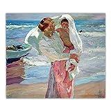 Joaquin Sorolla Works Posters Impresiones después del baño Arte de la lona Pintura al óleo Obra de a...
