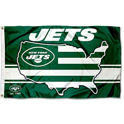 WinCraft New York Jets Nation USA American Country 3x5 Flag