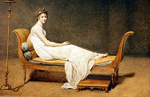Steve Art Gallery Portrait of Madame Recamier,Jacques-Louis David,60x40cm