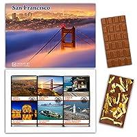 "DA CHOCOLATE キャンディ スーベニア ""サンフランシスコ"" SAN FRANCISCO チョコレートセット 7,2×5,2一箱 (MILK Orange Cedar Mint)"