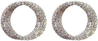 JERKKY Pendientes 1 par Pendientes de aro de Diamantes de imitación Brillantes Chic Cubic Zirconia Crystal Pave Post Studs