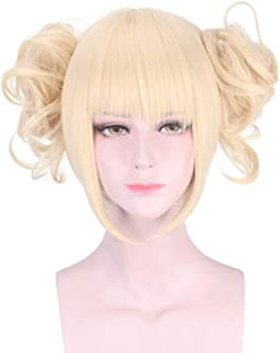 HANCYLILY Cosplay Wig Synthetic Anime Wig with Blonde Ponytail for My Hero Academia Himiko Toga