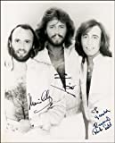 BEE GEES AUTOGRAPH PRINT APPROX SIZE 12X8 INCHES by 12X8