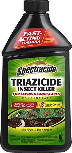 Spectracide Triazicide Insect Killer For Lawns & Landscapes Concentrate, 32-Ounce, 6-Pack