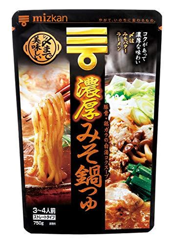 ミツカン 〆まで美味しい濃厚みそ鍋つゆ ストレート 750g×4袋