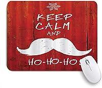 PATINISAマウスパッド クリスマスは口ひげとスノーフレークのユーモアの面白いデザインで穏やかでホーホーホーの言葉を保つ ゲーミング オフィ良い 滑り止めゴム底 ゲーミングなど適用 用ノートブックコンピュータ