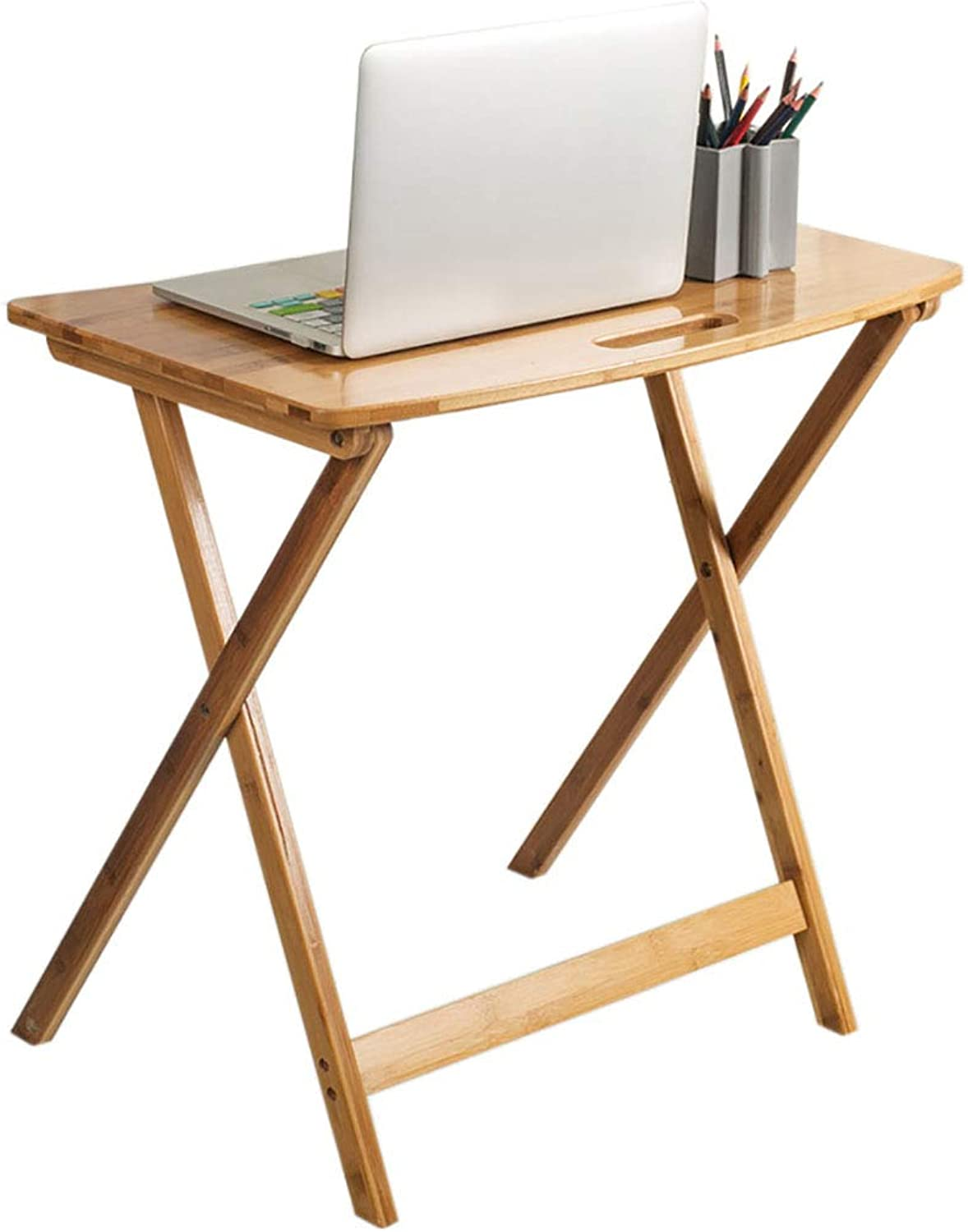 Bedside Laptop End Table Simple Foldable Bamboo Lightweight and Portable for Small Space