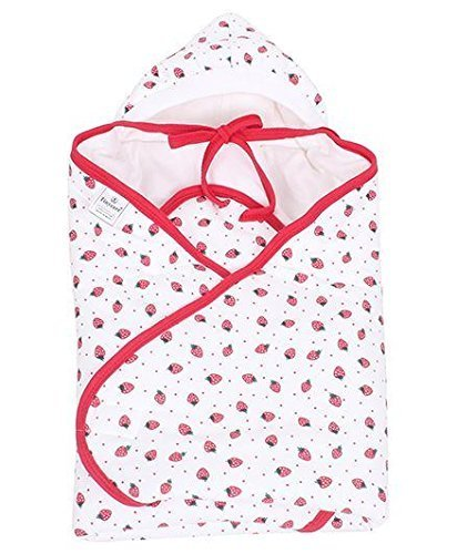 Tinycare Hooded Cherry Printed Baby Wrapper 532A