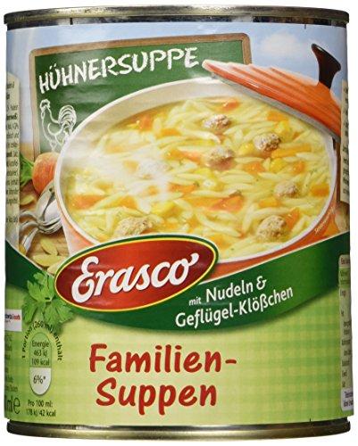 Erasco Hühnersuppe mit Nudeln und Geflügel-Klößchen, 6er Pack (6 x 780 ml)