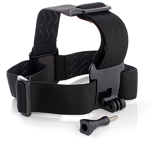 Neuftech - Fascia da testa Elastica Regolabile per fotocamera/ videocamera GoPro 1/2/3/4+ - Head Strap Mount Per Camera gorpro (Nero)