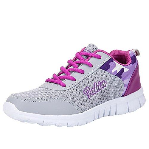 ‿ Loveso Mode Schuhe Damen,Frauen Berufsschuhe Cross-Trainer Sneaker Schuh-Slip-on Turnschuhe Outdoor-Sportarten Gehen Flache Schuhe