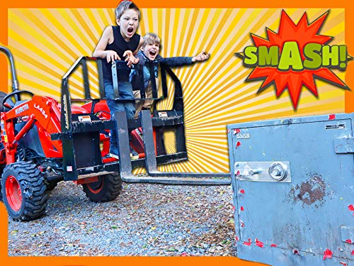 Smashing Open Abandoned Safe with a Tractor (Is the Game Master Spying on Us)