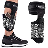 BlitzShot Ankle Holster - Secured and Comfortable - Ankle Holster for Concealed Carry - Premium Strap - Gun Ankle Holster for Glock 43 42 36 26 19, M&P Shield Bodyguard, Ruger LCP LC9, Sig Sauer