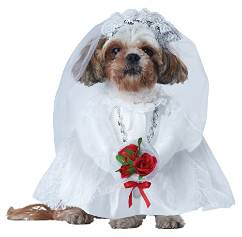 Dog Wedding Dress Costume With Arms