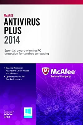 McAfee AntiVirus Plus 3PC 2014 (Free Upgrade to 2016 after activation)