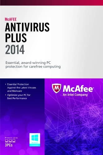 McAfee AntiVirus Plus 3PC 2014 Free Upgrade to 2016 after activation product image