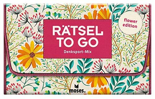 Rätsel to go   Denksport-Mix: flower edition   Rätselbuch für unterwegs
