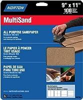 Norton 47735 Multisand Sandpaper 100 Grit 9-Inch x 11-Inch 5-Pack [並行輸入品]