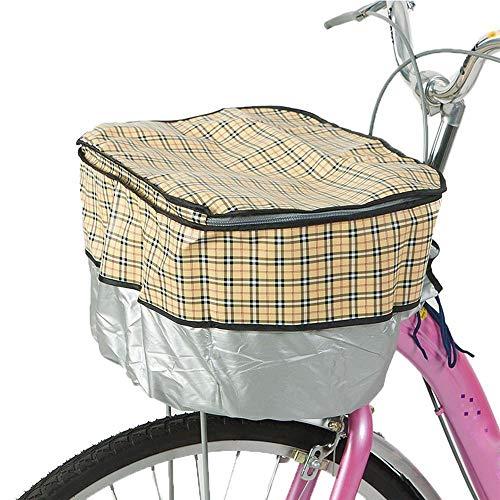 KNFBOK fietstassen voor stuur hond fietsdrager Fiets Mand Cover Elektrische auto Mand Cover Basis Wave Point Dot Regendichte Cover Stofhoes geel