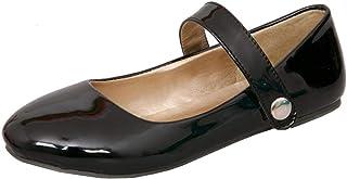 Vitalo Womens Patent Ballet Flats Mary Jane Ankle Strap Ballerina Shoes