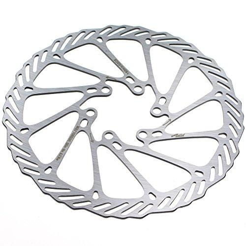 CYSKY 160 180 203mm Scheibenbremse Rotor 2 Packungen Edelstahl Fahrrad Scheibenbremse Rotor 6 Schrauben für die meisten Fahrrad Rennrad Mountainbike BMX MTB (160mm) - 5