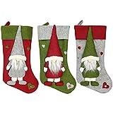 JBZP Bolsas DE Regalo DE Fiesta DE Colgante DE Navidad-Nuevas Decoraciones navideñas Sin muñecas de Cara Calcetines Bolsas de Regalo Árbol de Navidad Colgante Antiguo Bolsas de Regalo