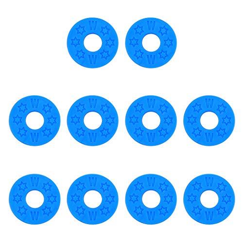 WINJEE,10pcs Strap Sloten Rubber Pads Wasmachines voor Akoestische Gitaar Bass Onderdelen & Accessoires