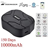 Zeerkeer GPS Tracker, Waterproof 150 Days Standby Rechargable Tracker And Anti-Lost GPS Locator