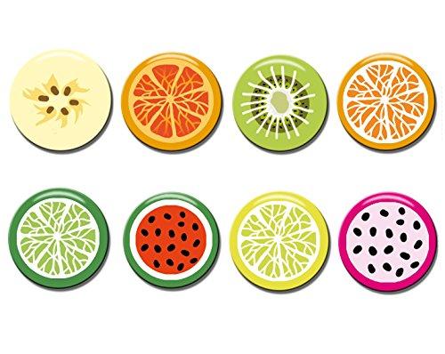 Polarkind 8 stuks fruit decoratieve magneet set voor koelkast whiteboards magneetbord memobord handgemaakte decoratie