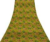 Svasti Blätter & Dänemark stieg Blumen- Vintage Saree