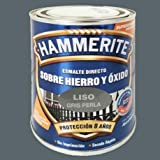 Hammerite Esmalte directo sobre hierro y óxido Liso Brillante Gris Perla 250 ml