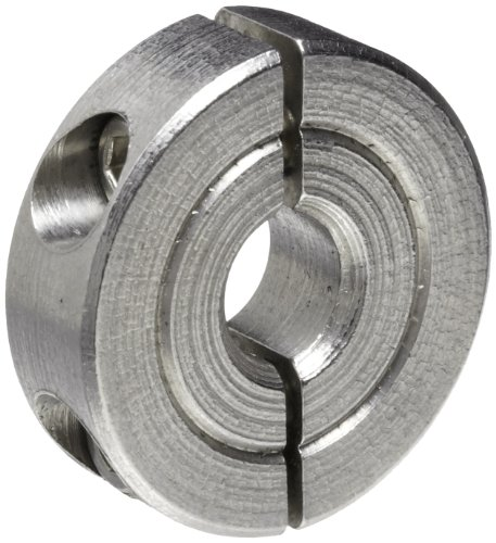 Climax Metal H2C-025-S Shaft Collar, Two Piece, Clamp Style, Stainless Steel, 1/4