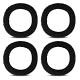 Replacement Sponge Foam Filter for Stainless Steel Cat Fountain, 4 Filters Pack Black